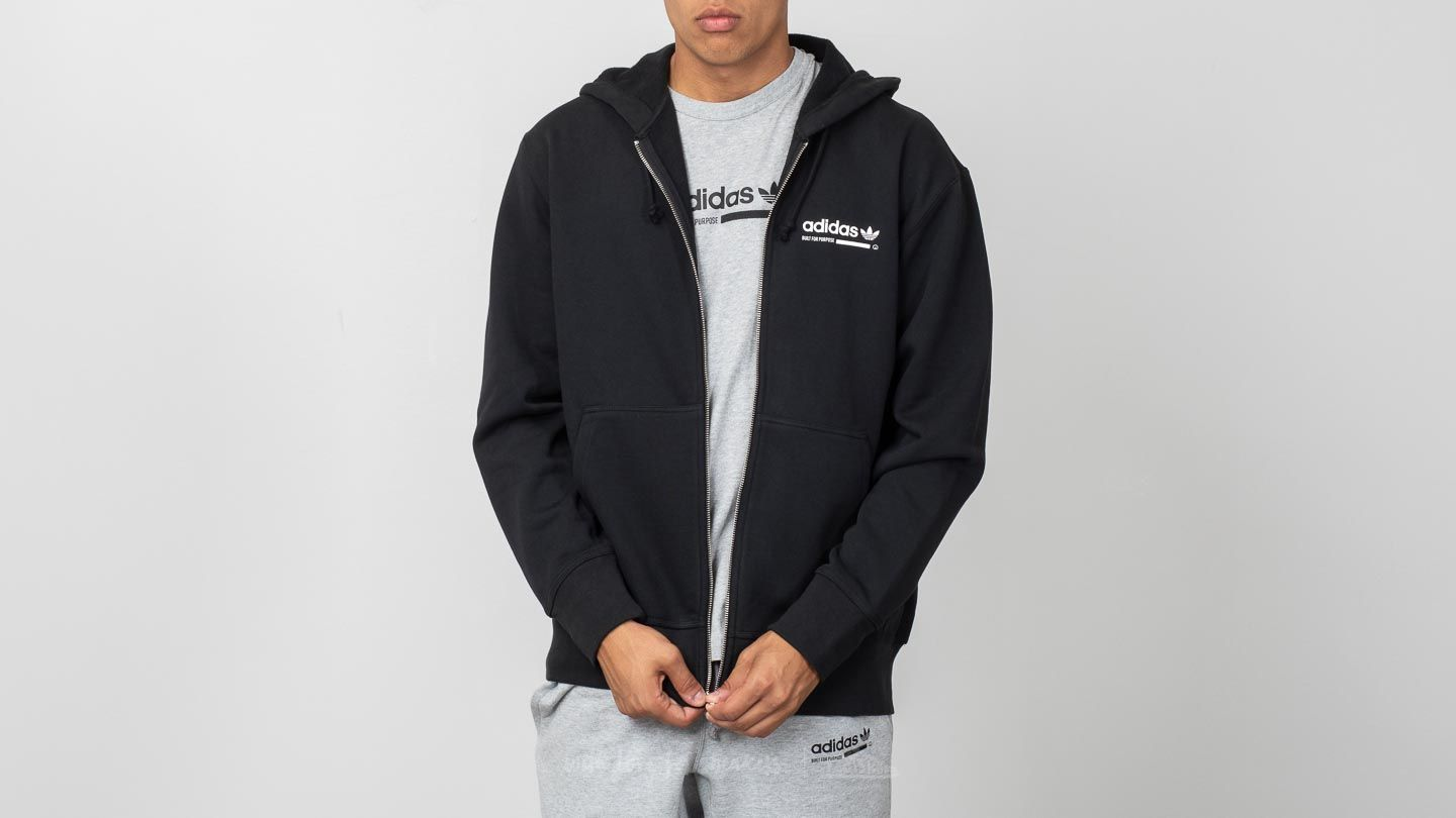 adidas hoodie black and grey