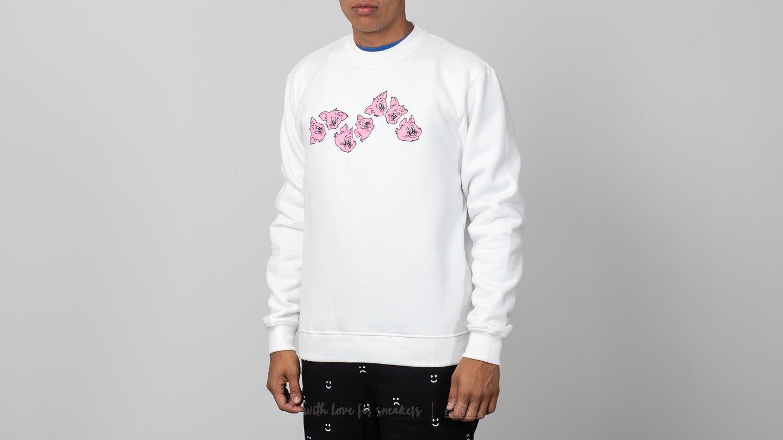 Lazy Oaf Wavy Cats Sweatshirt White za skvělou cenu 1 250 Kč koupíte na Footshop.cz