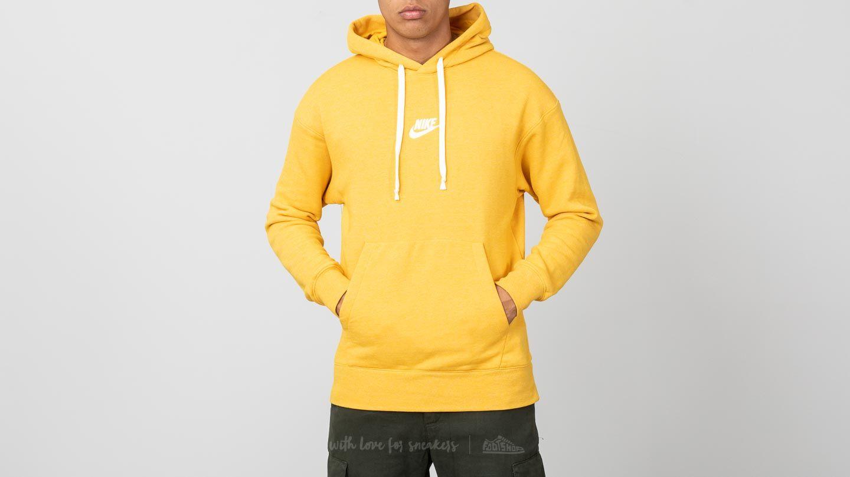 Nike Sportswear Heritage Pullover Hoodie Yellow