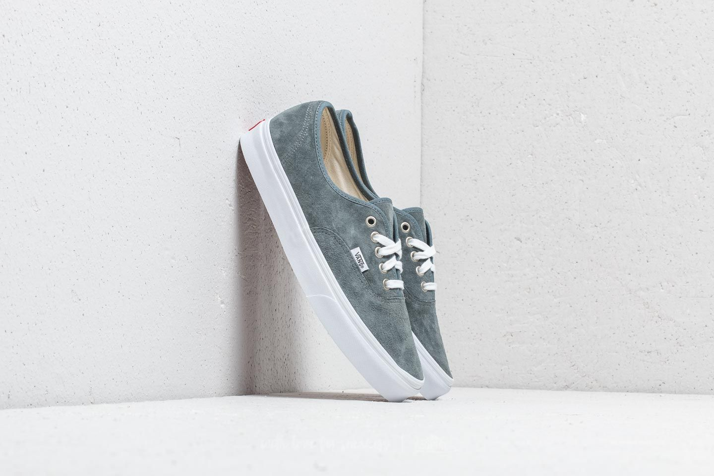 6a084a8c9cee Vans Authentic (Pig Suede) Stormy Weather  True White at a great price 63