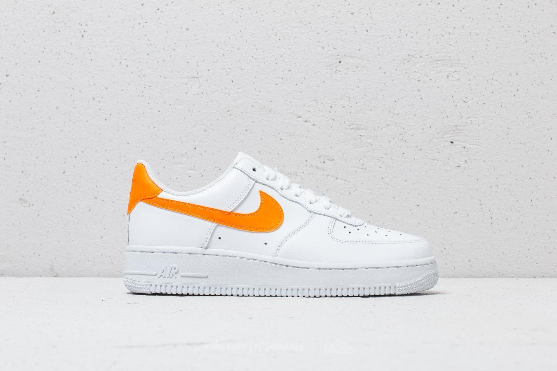 Nike Wmns Air Force 1 07 White Total Orange White | Footshop