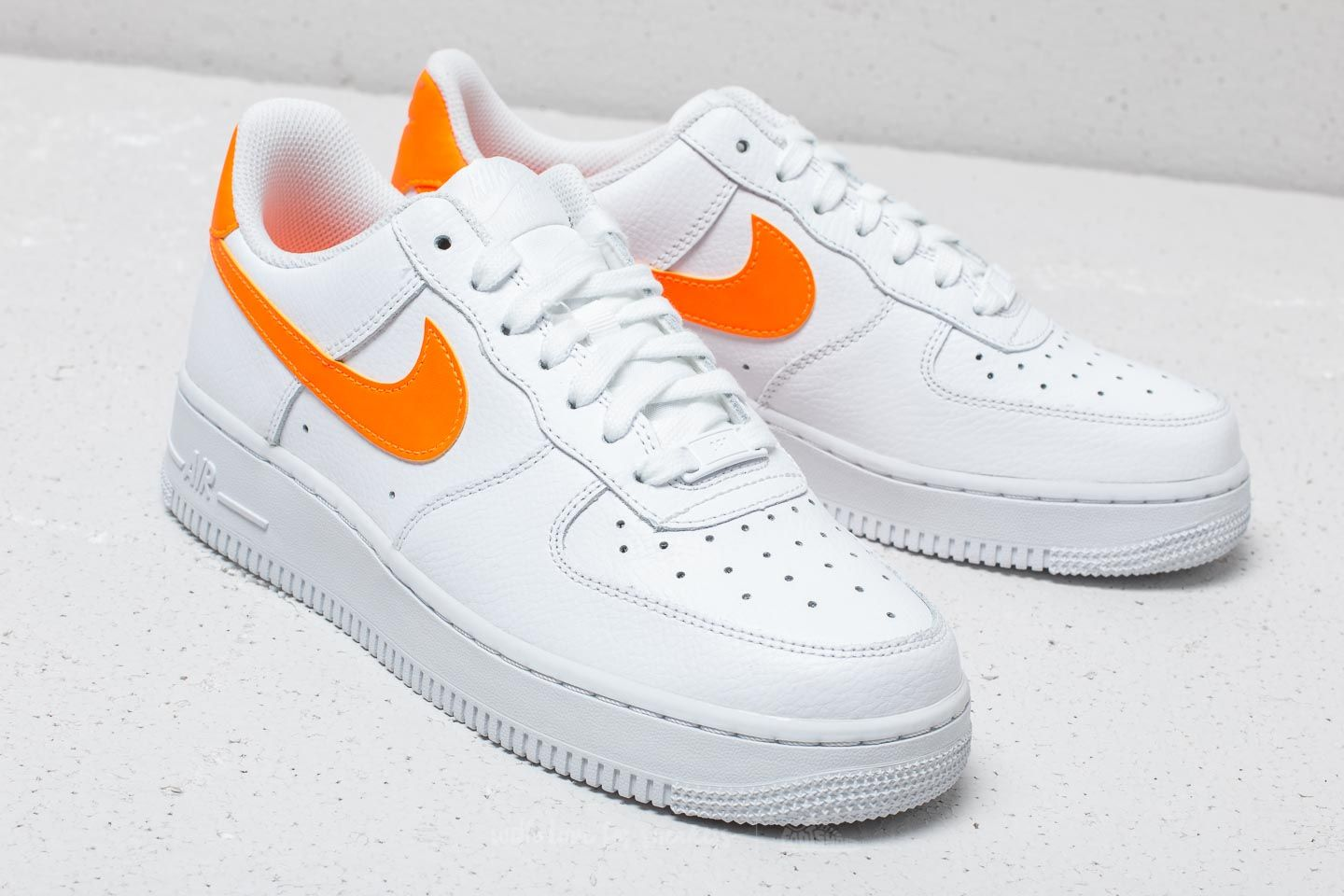 Nike Wmns Air Force 1 07 White Total Orange White | Footshop