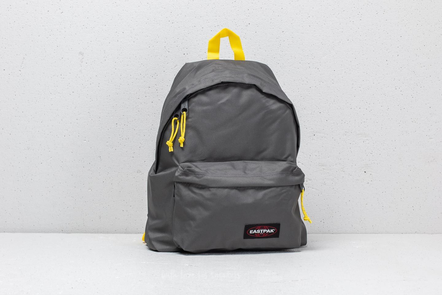 Eastpak Padded Pak R Backpack Grey  Yellow
