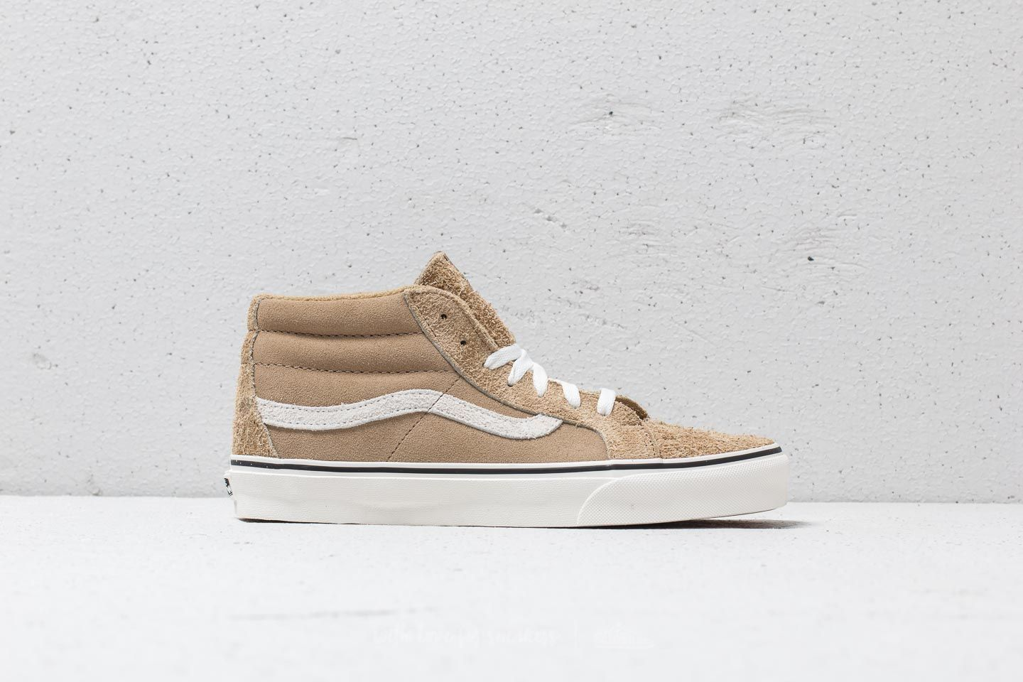 0c51bd25be Vans SK8-Mid Reissue (Hairy Suede Mix) Tan  Snow White at a