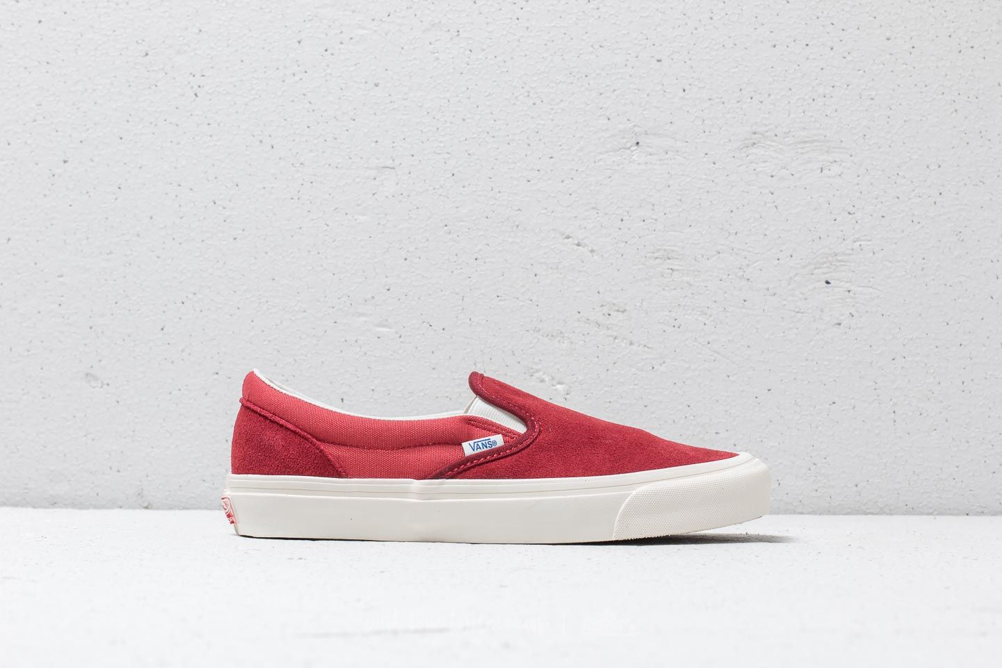 Vans OG Classic Slip On (Suede Canvas) Sun Dried Tomato Mineral Red | Footshop
