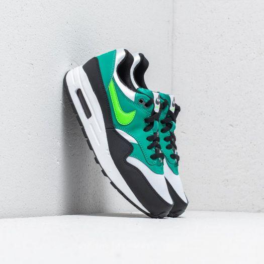 Nike Air Max 1 GS shoes white green