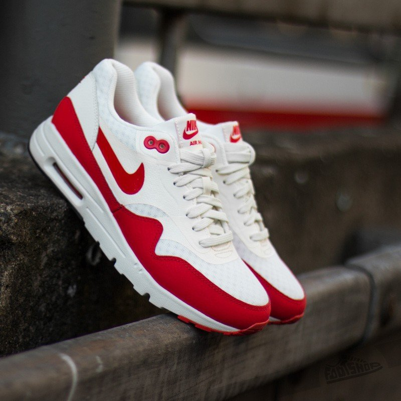 online store 6808f d57a8 Nike Wmns Air Max 1 Ultra Essentials Sail Challange Red-Black