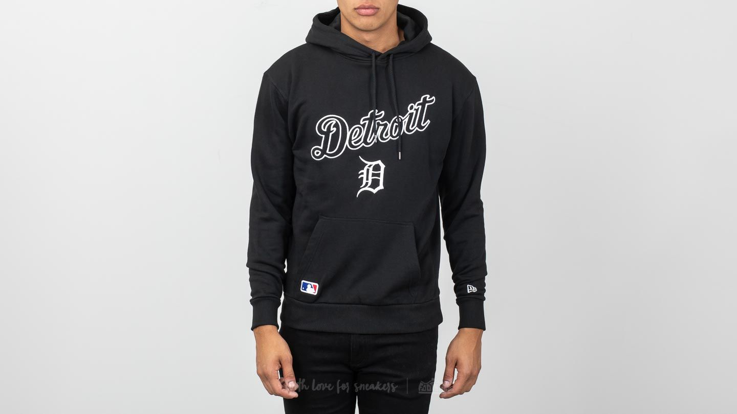 the latest 26910 47e23 New Era University Club Detroit Tigers Pullover Hoodie Black