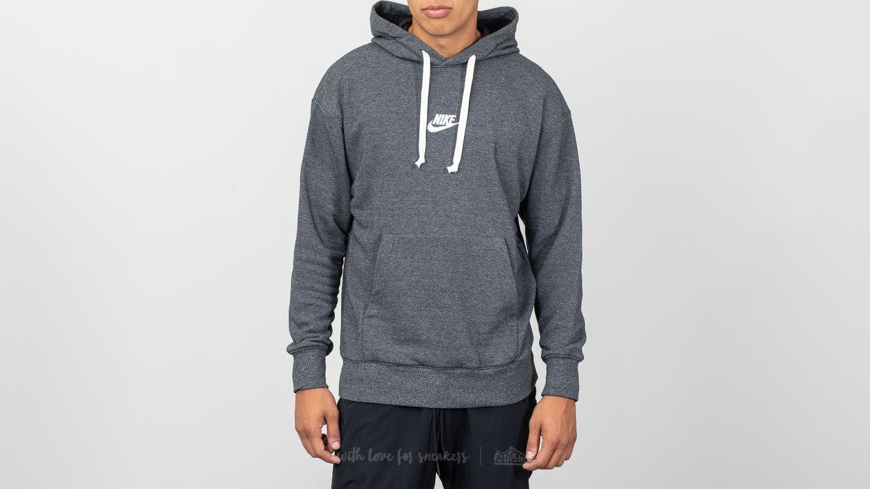 Nike Sportswear Heritage Pullover Hoodie Black Heather Sail | Footshop