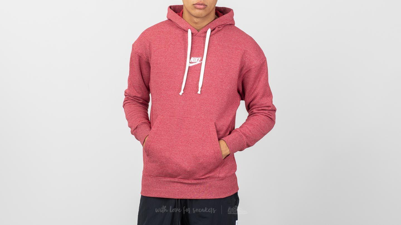 d619b835d495 Nike Sportswear Heritage Pullover Hoodie Burgundy Crush