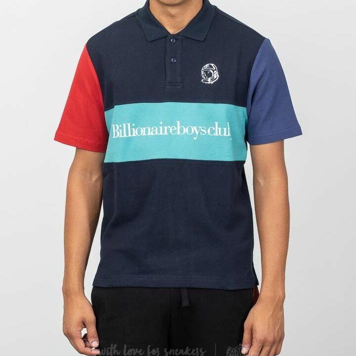 Billionaire Boys Club Cut & Sew Polo Shirt Blue, Multicolour