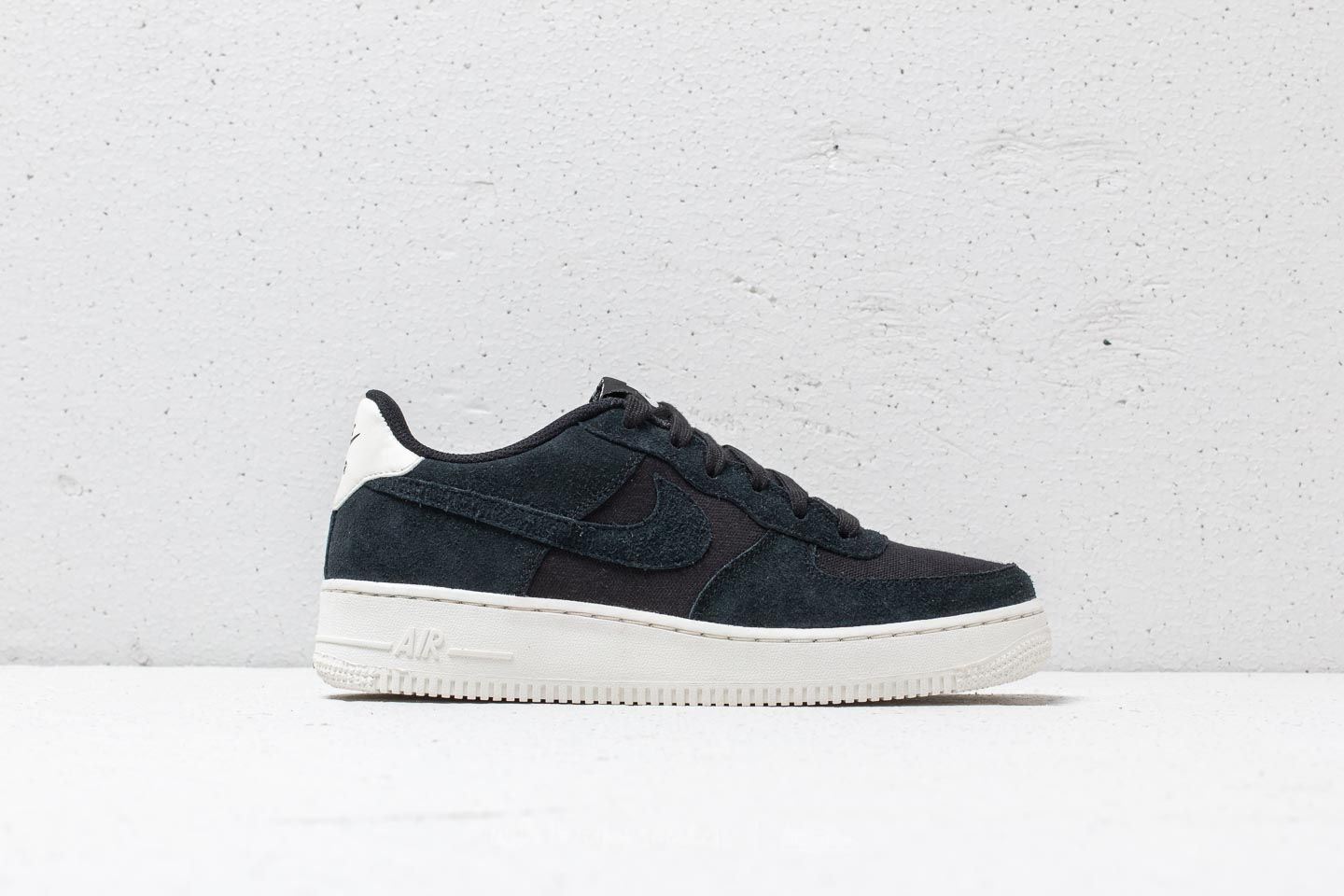 Nike Air Force 1 `07 Suede Black Black Sail | Footshop
