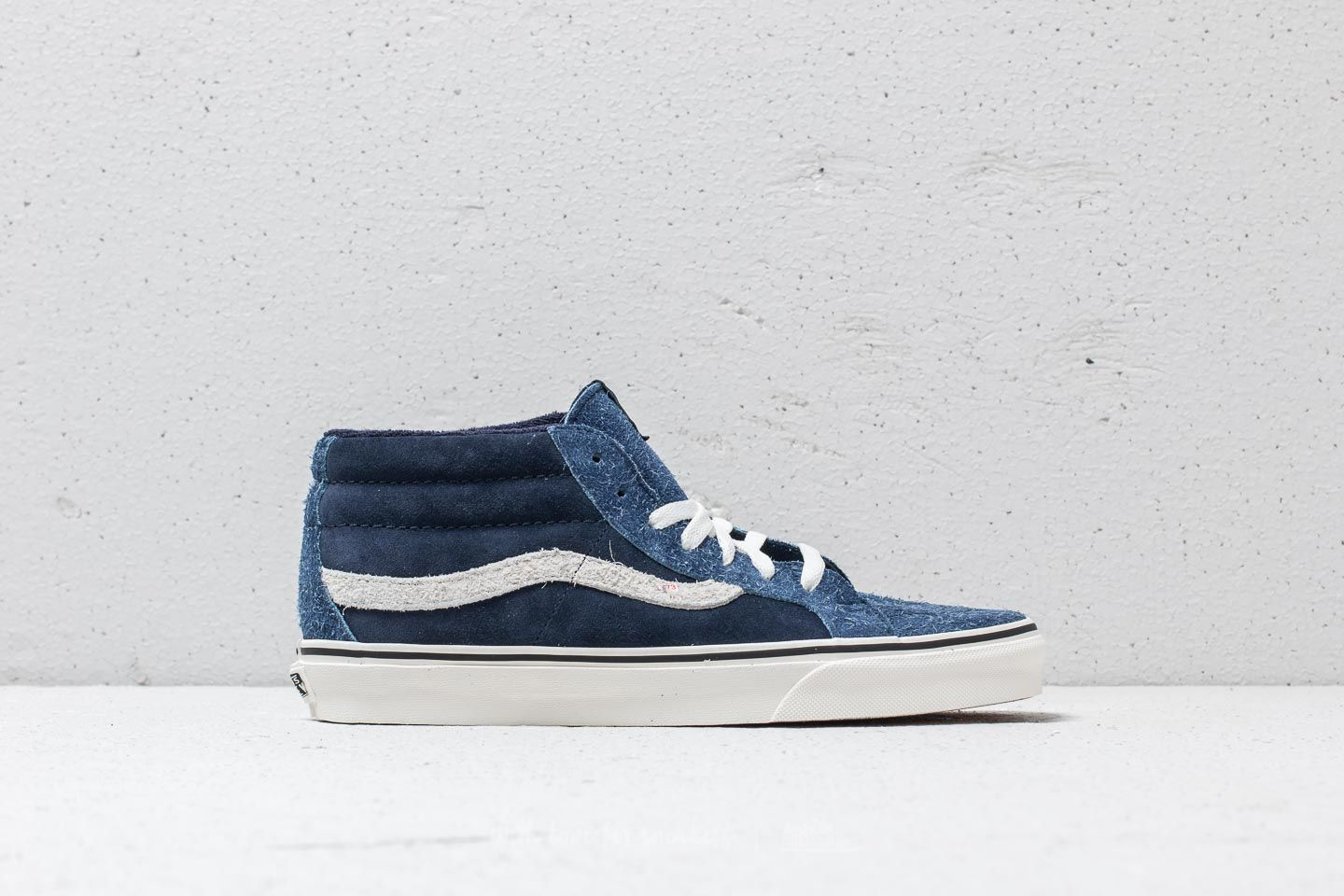 486a3f9f8e70 Vans SK8-Mid Reissue (Hairy Suede Mix) Dress Blue  Snow White at