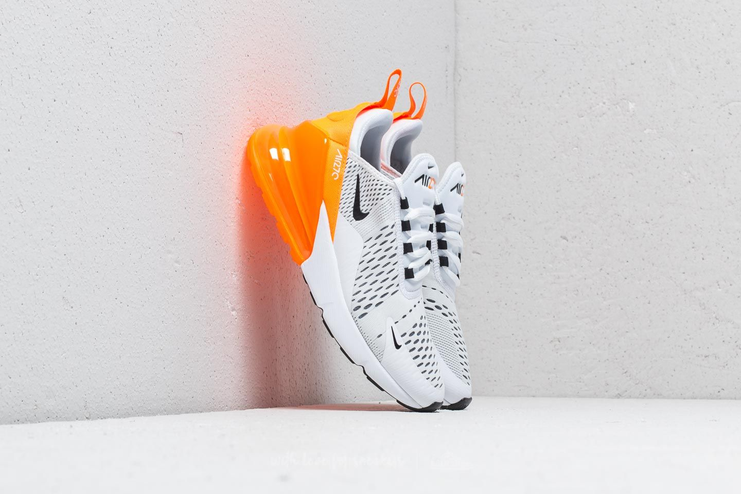 ac27072fc9a2 Nike W Air Max 270 White  Black-Total Orange
