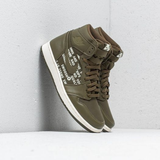 Air Jordan 1 Retro High OG Olive Canvas Sail | Footshop