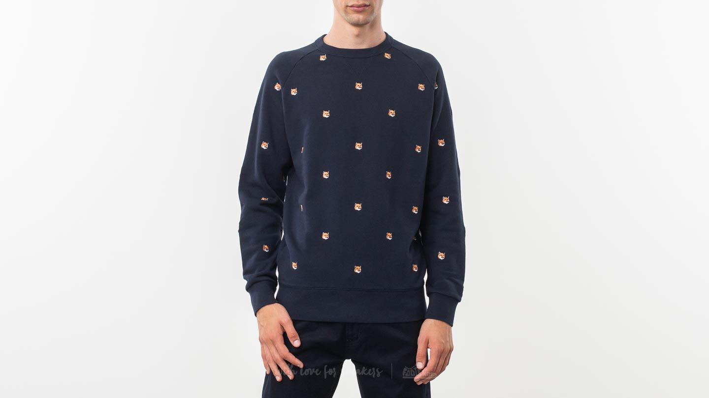 MAISON KITSUNÉ All Over Fox Head Patch Sweatshirt