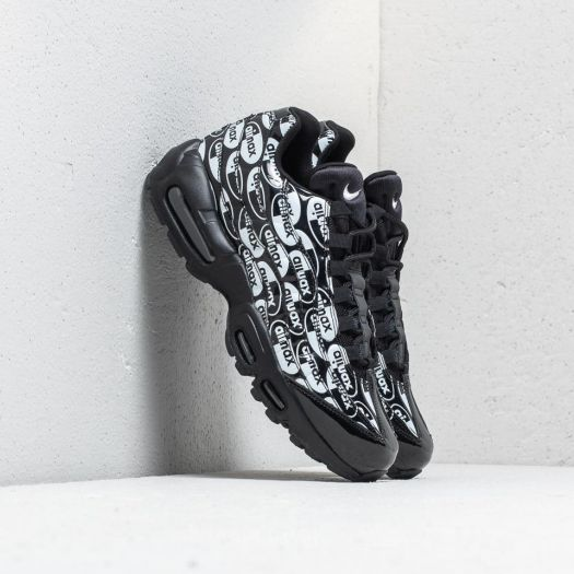 "Nike Air Max 95 Premium ""All Over Logo""Black Black White"