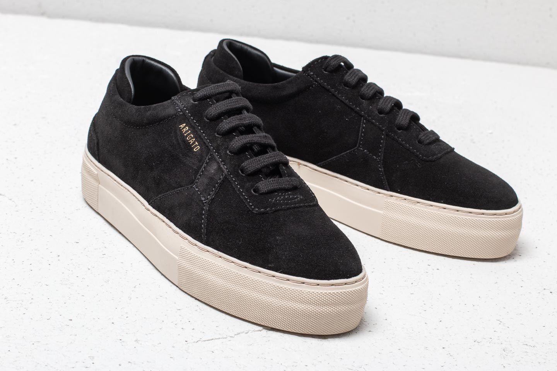 axel arigato platform sneaker black suede leather