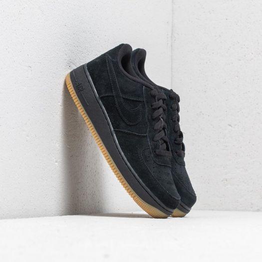 Nike Air Force 1 Premium (GS) Black Black Gum Light Brown