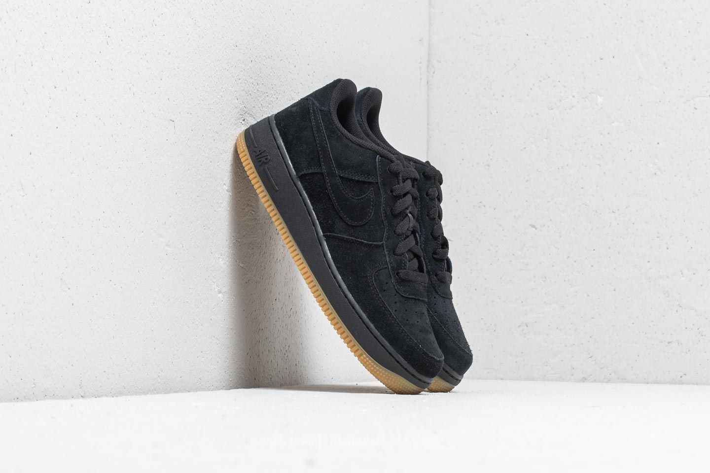 pretty nice 18db8 6e48f Nike Air Force 1 Premium (GS). Black  Black-Gum Light Brown