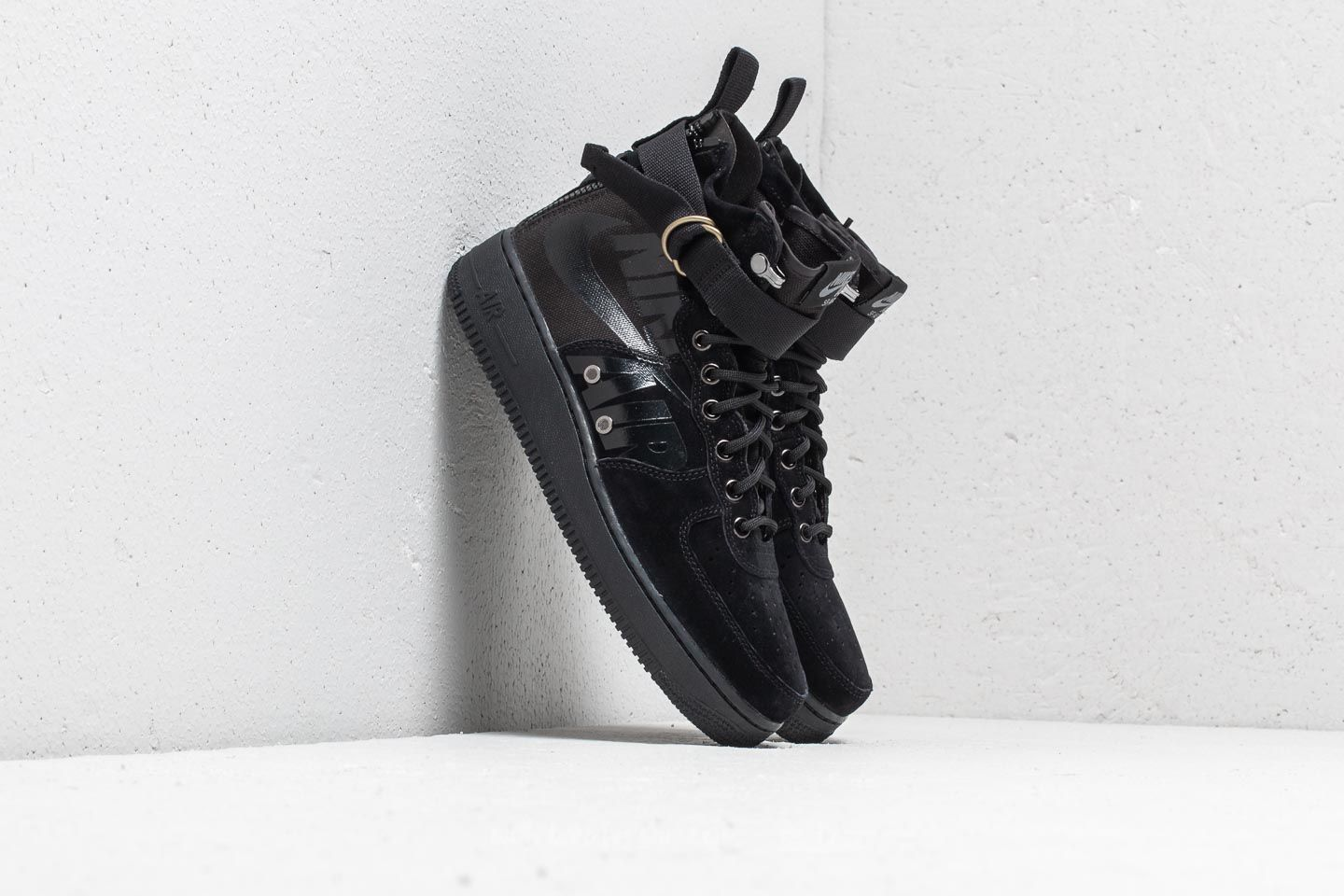Nike SF Air Force 1 Mid Black Black Cool Grey | Footshop