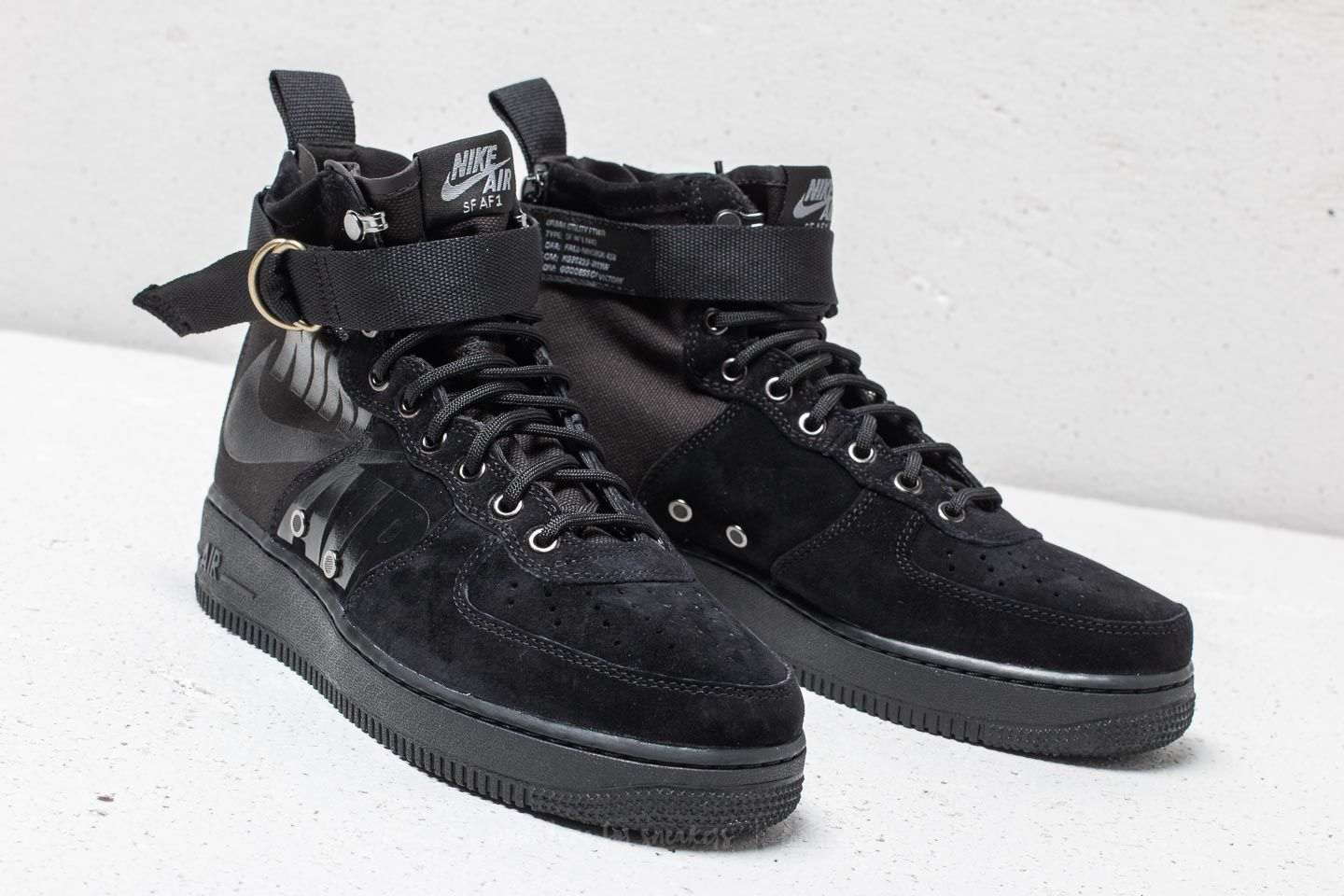 Nike SF Air Force 1 Mid Black Black Cool Grey