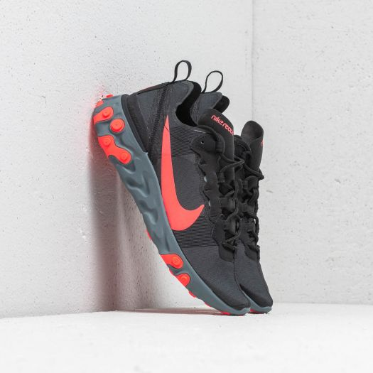 info for new high quality quality Nike W React Element 55 Black/ Solar Red-Cool Grey ...