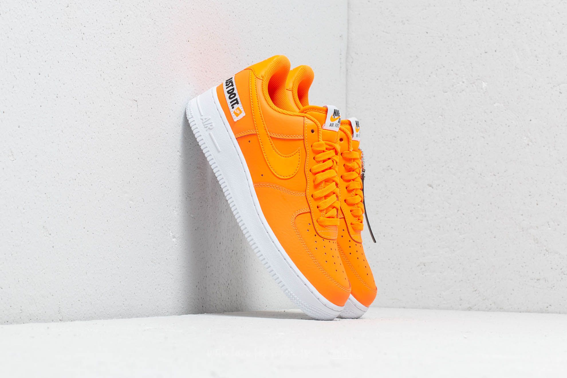 huge discount df2fd bcd37 clearance nike air force 1 07 lv8 jdi leather total orange total orange  8b80d 59424