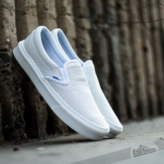 various design thoughts on new release Vans Slip-On Lite (Perf) White   Footshop