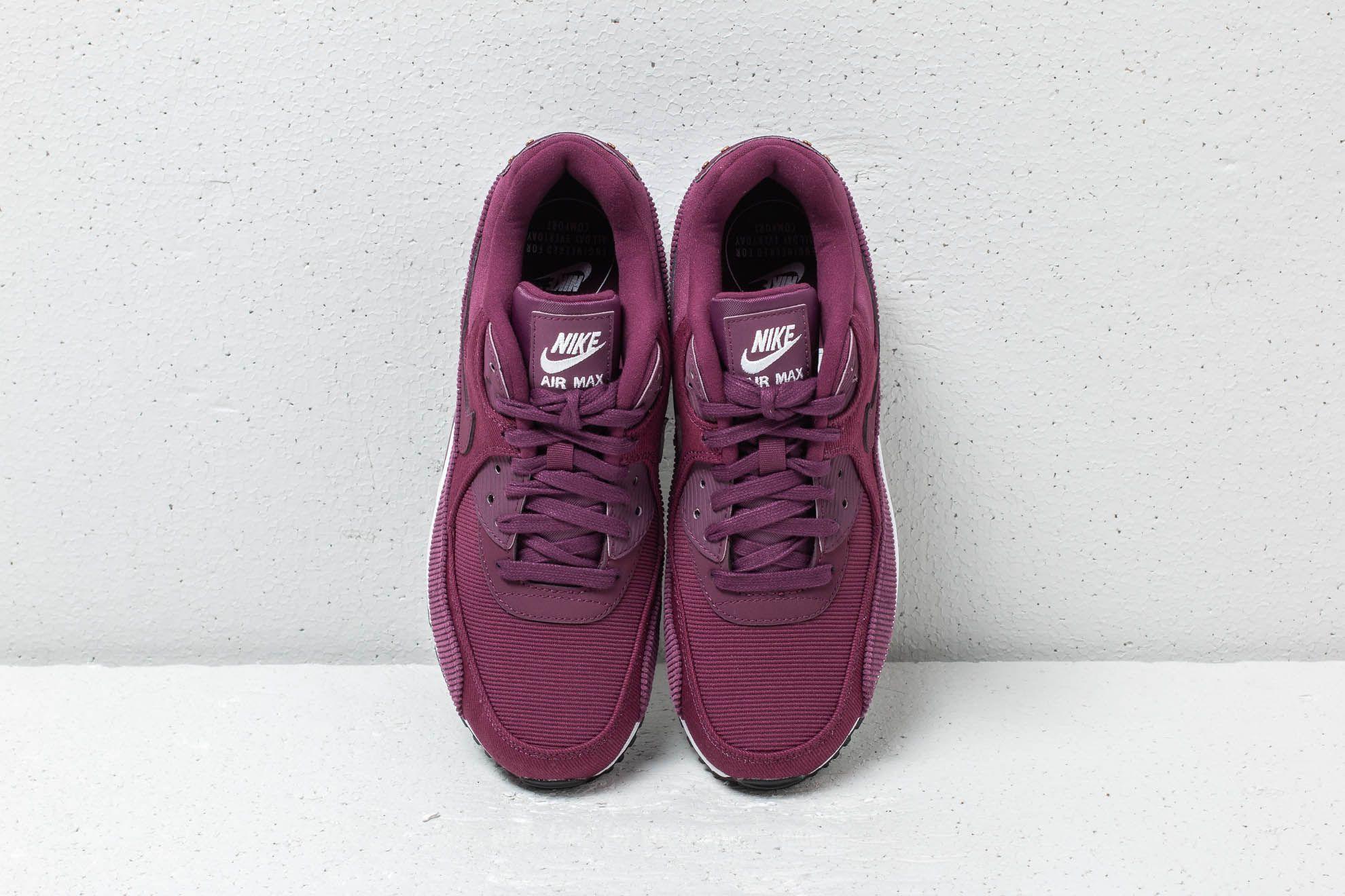 Women's shoes Nike WMNS Air Max 90 LEA Bordeaux/ Bordeaux-Black ...