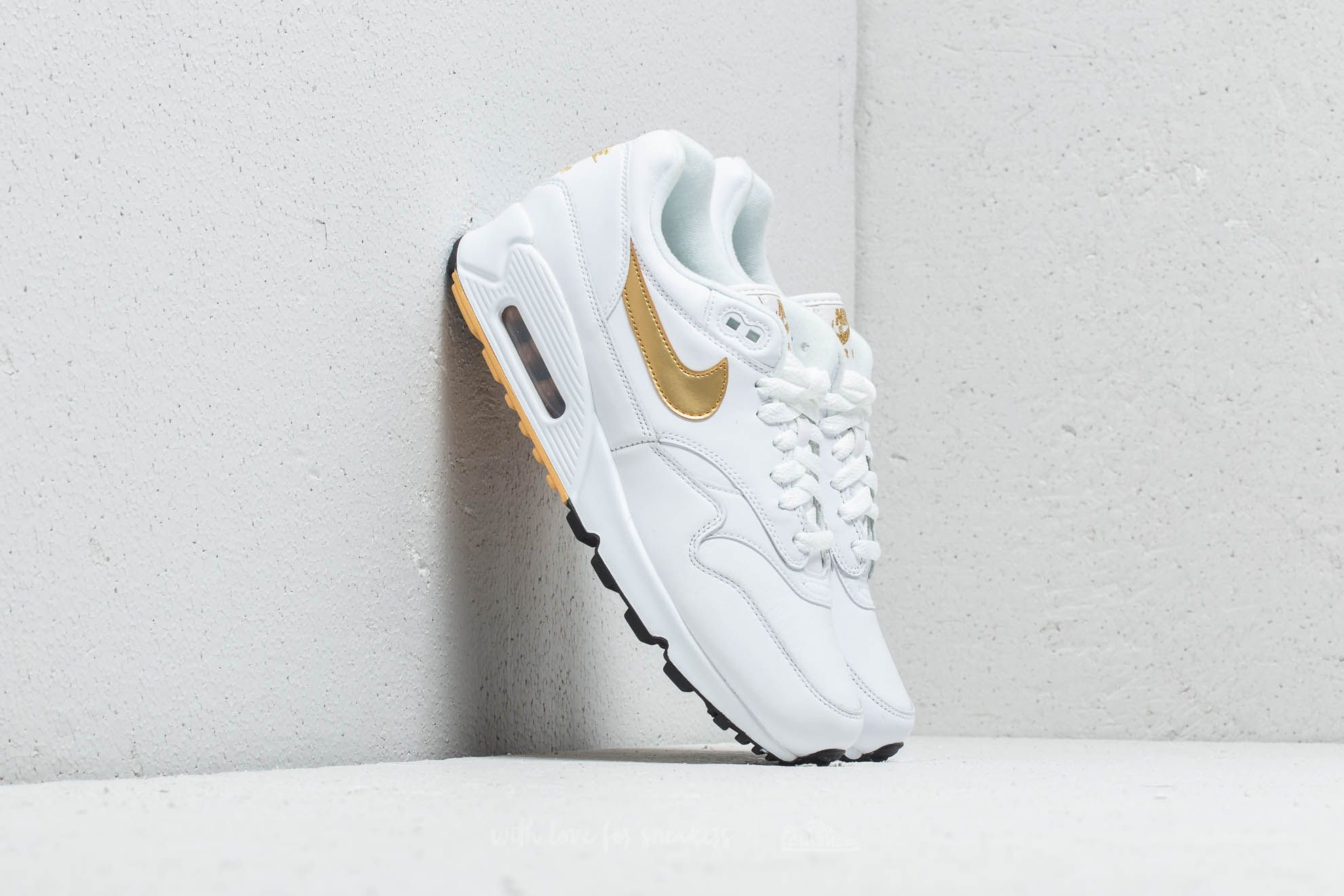 size 40 ae04d 16b59 Nike Air Max 90  1. White  Metallic Gold-Black