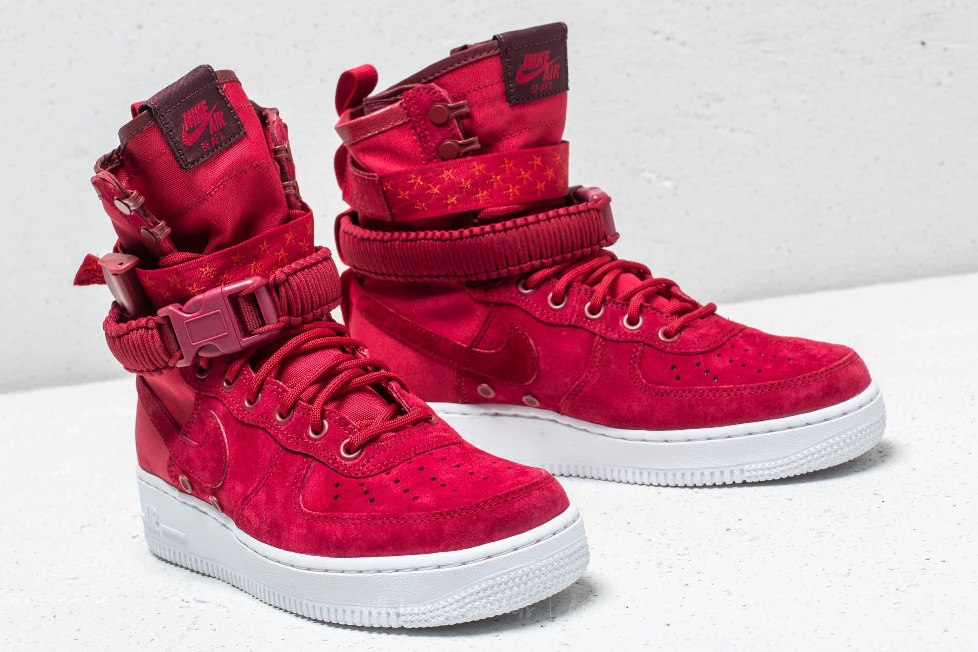 Nike SF Air Force 1 High: Red #sneakersnike | Sneakers