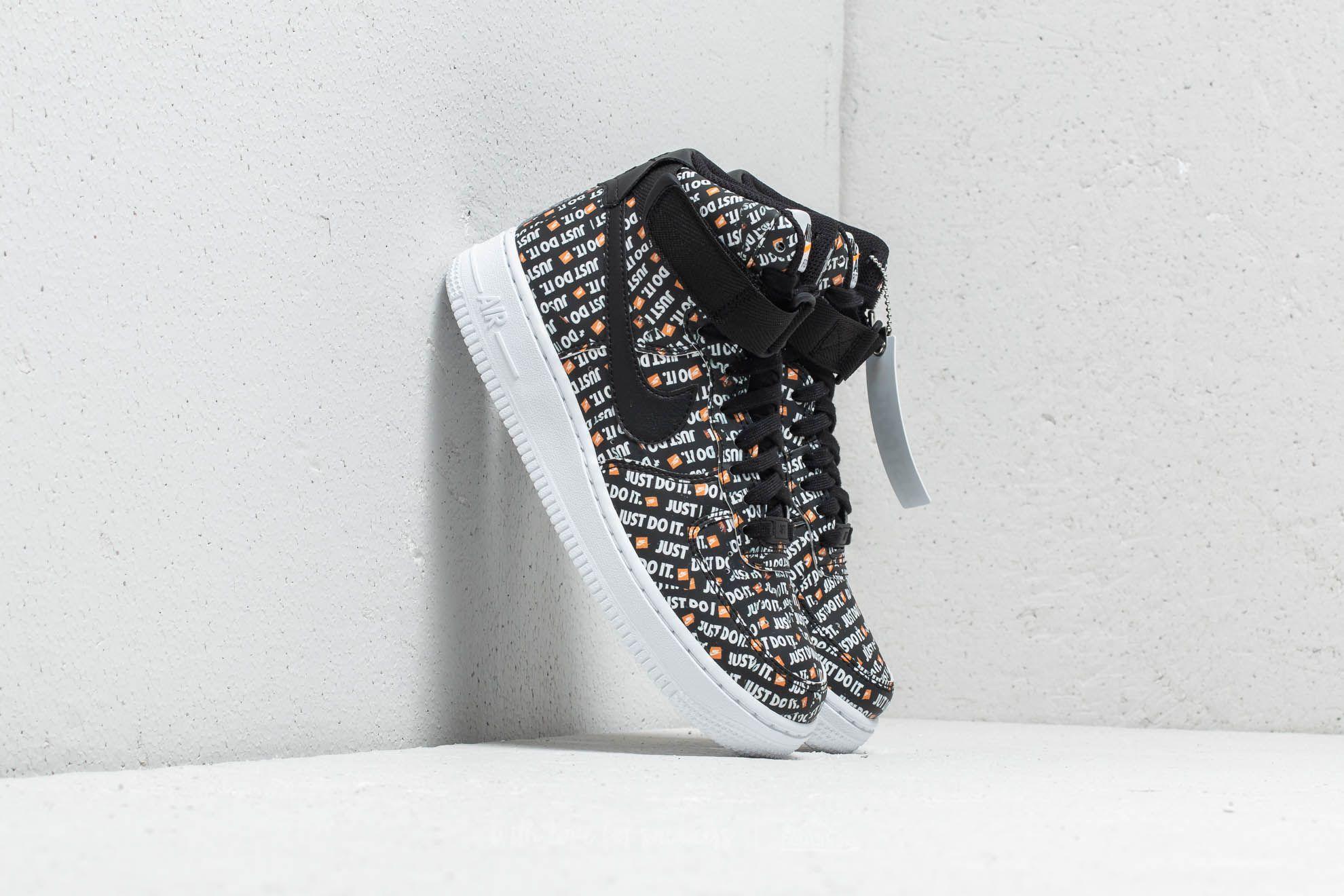 fea67ee451a Nike Wmns Air Force 1 Hi LX Black  Black-White-Total Orange ...