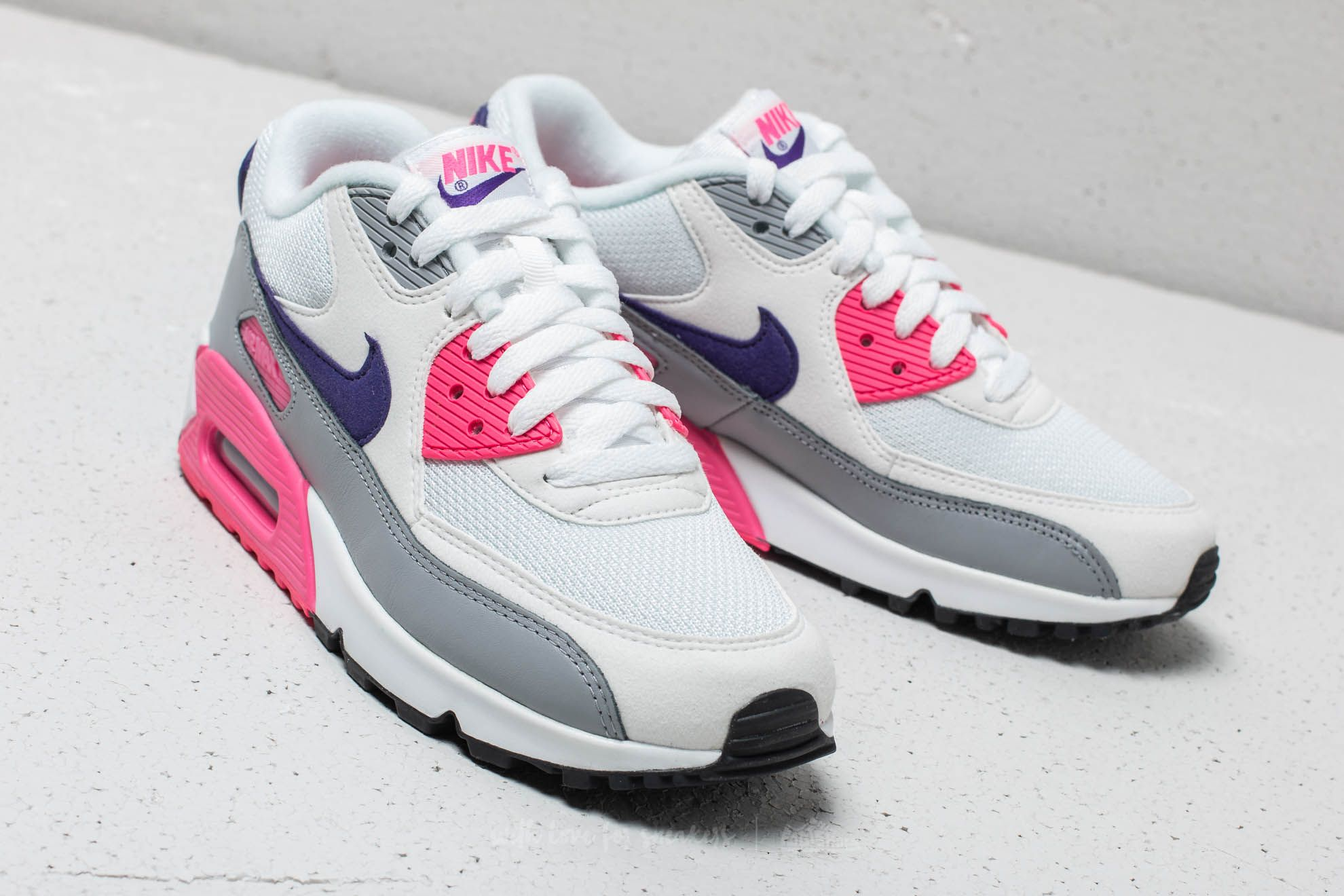 Nike Wmns Air Max 90 White  Court Purple-Wolf Grey at a great price 8d0e731801