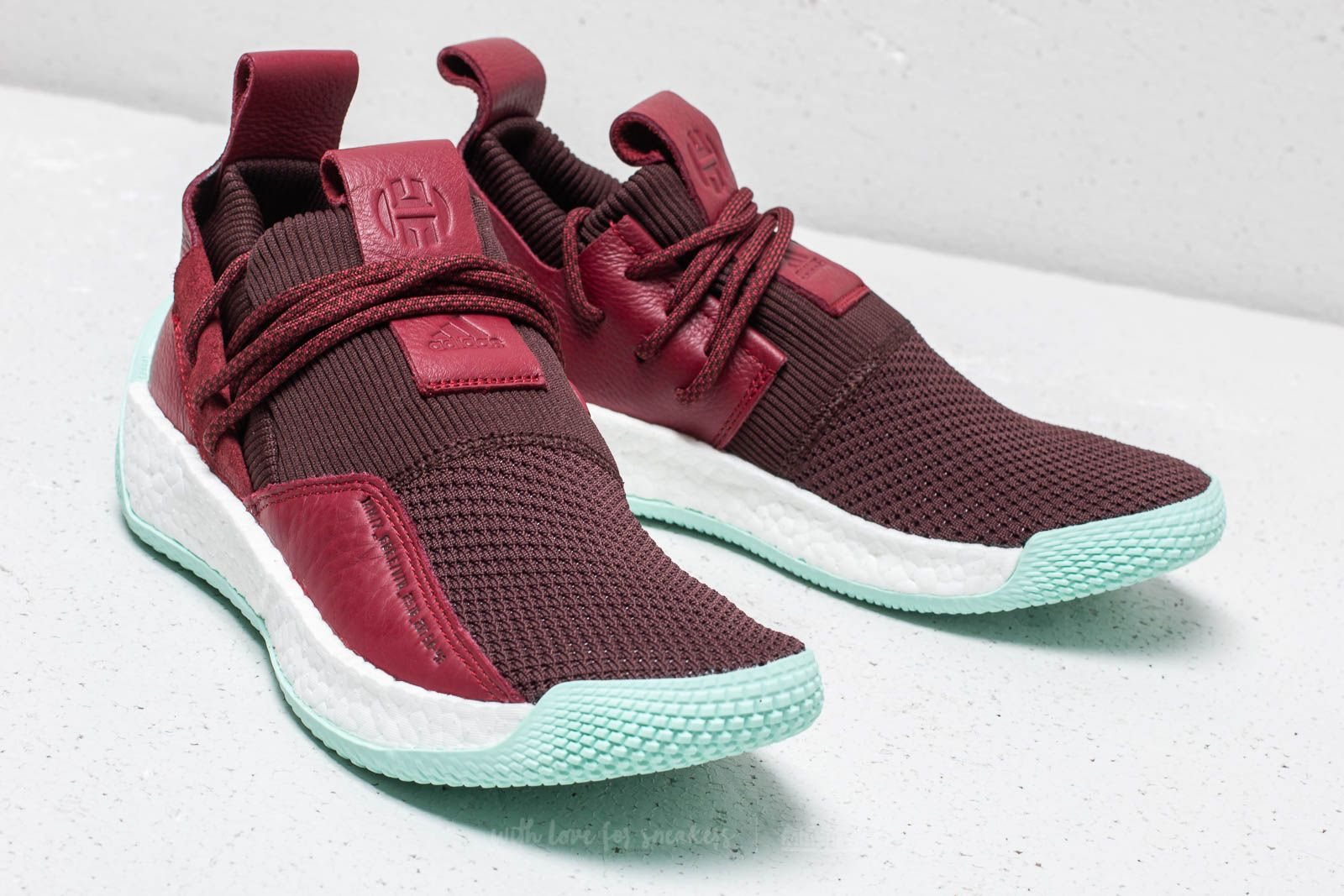 uk availability 28b5a 569d1 adidas Harden LS 2 Lace Night Red Noble Maroon Clear Mint au meilleur prix