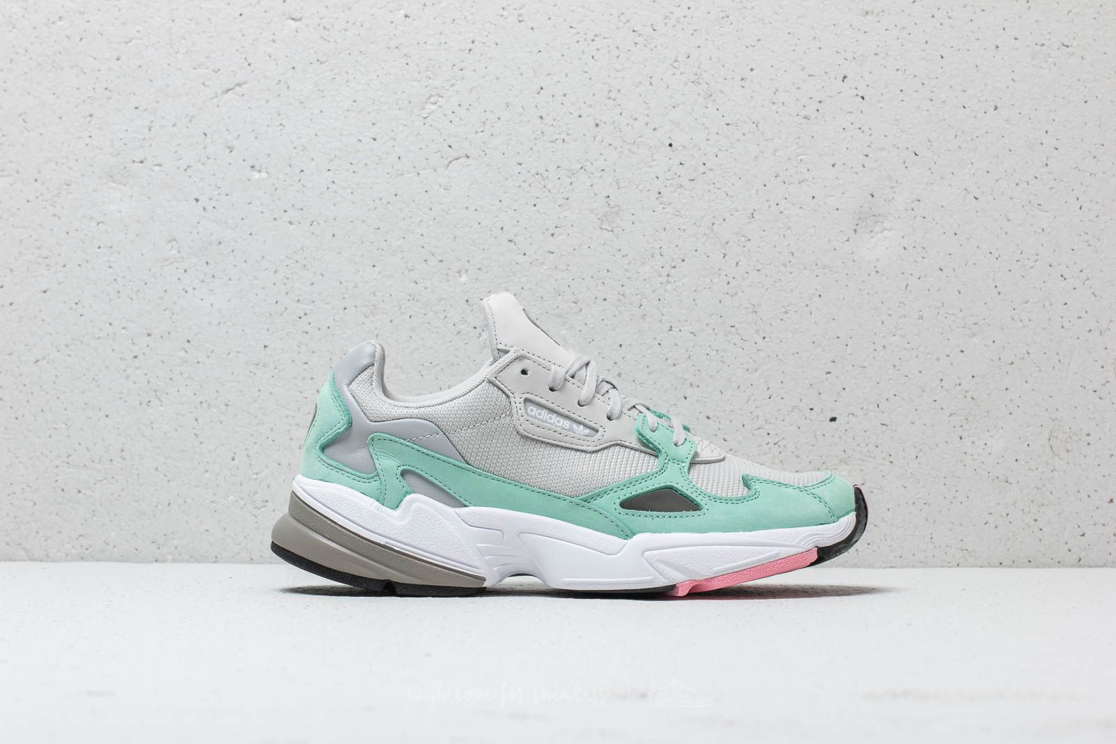 best loved 3810c ad750 adidas Falcon W Grey One  Grey One  Easy Green at a great price 99