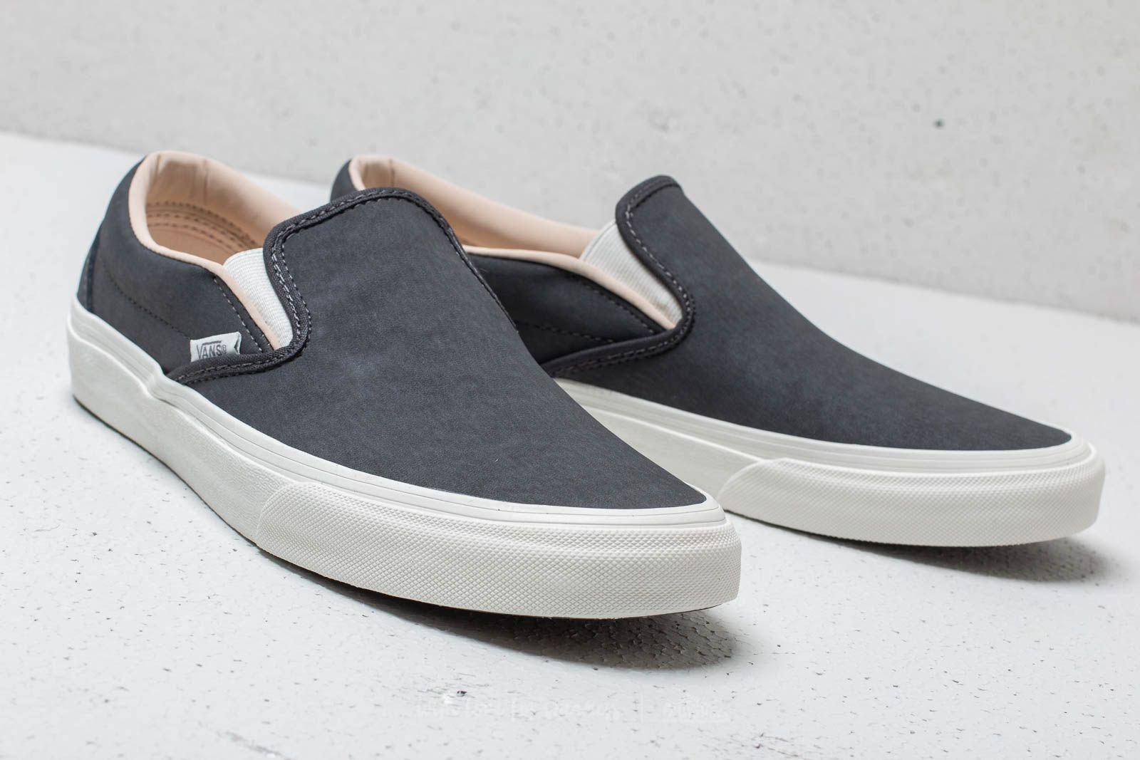 Vans Classic Slip On (Vansbuck) Asphalt Blanc De Blanc | Footshop