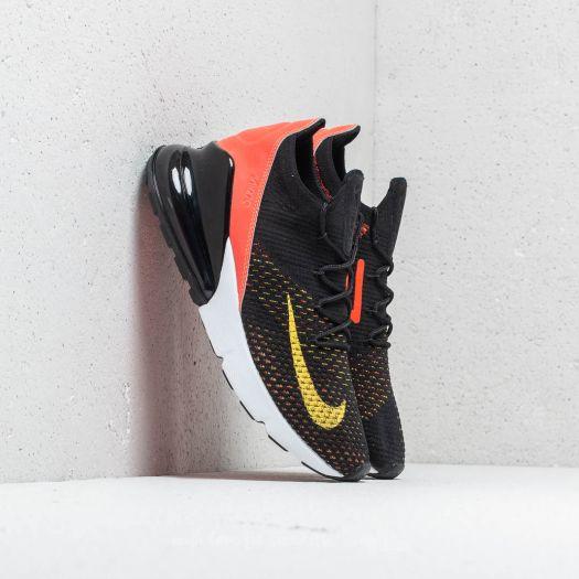 Nike W Air Max 270 Flyknit Black Yellow Strike | Footshop
