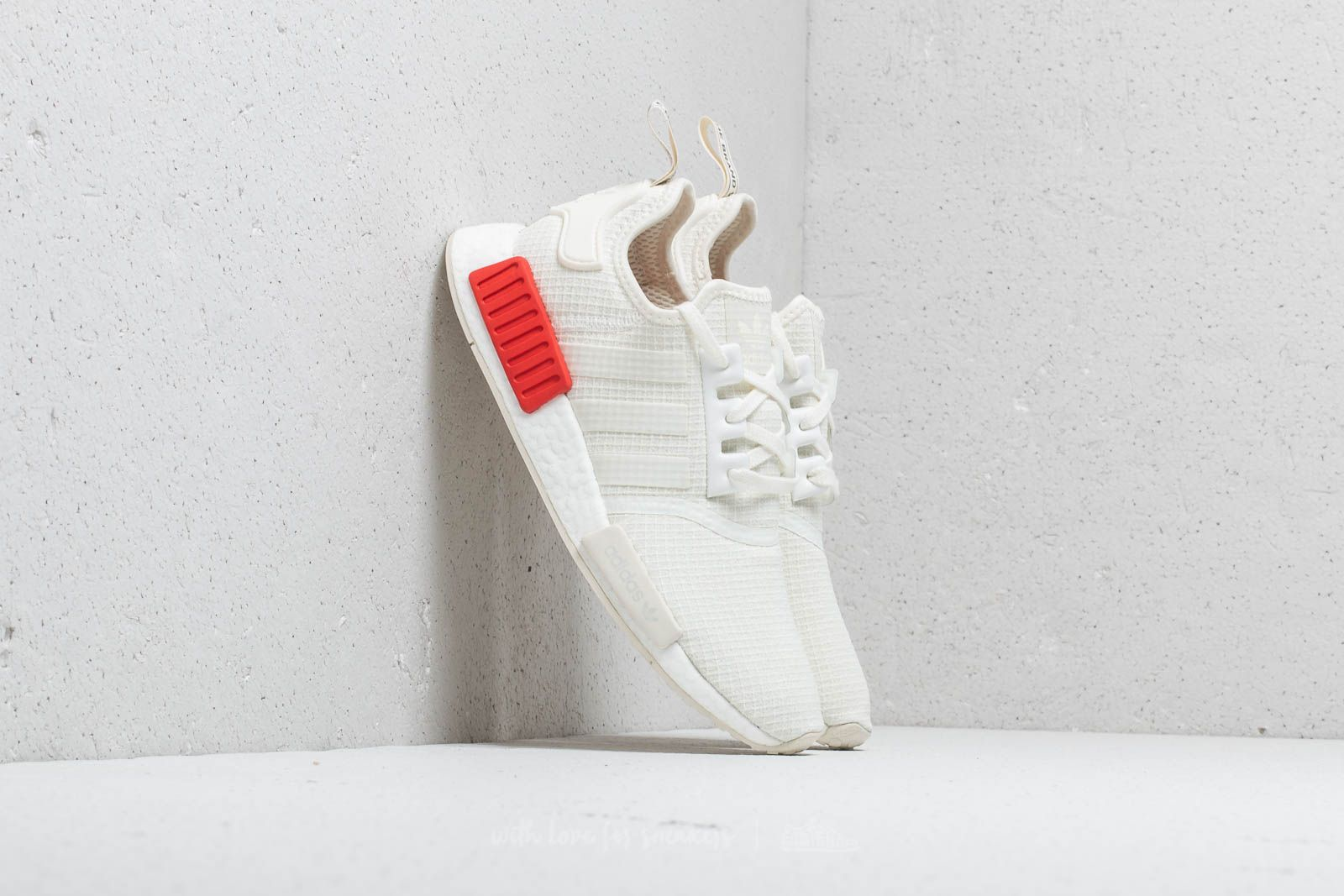 online retailer 3357f 626ec adidas NMD_R1 Off White/ Off White/ Lush Red   Footshop