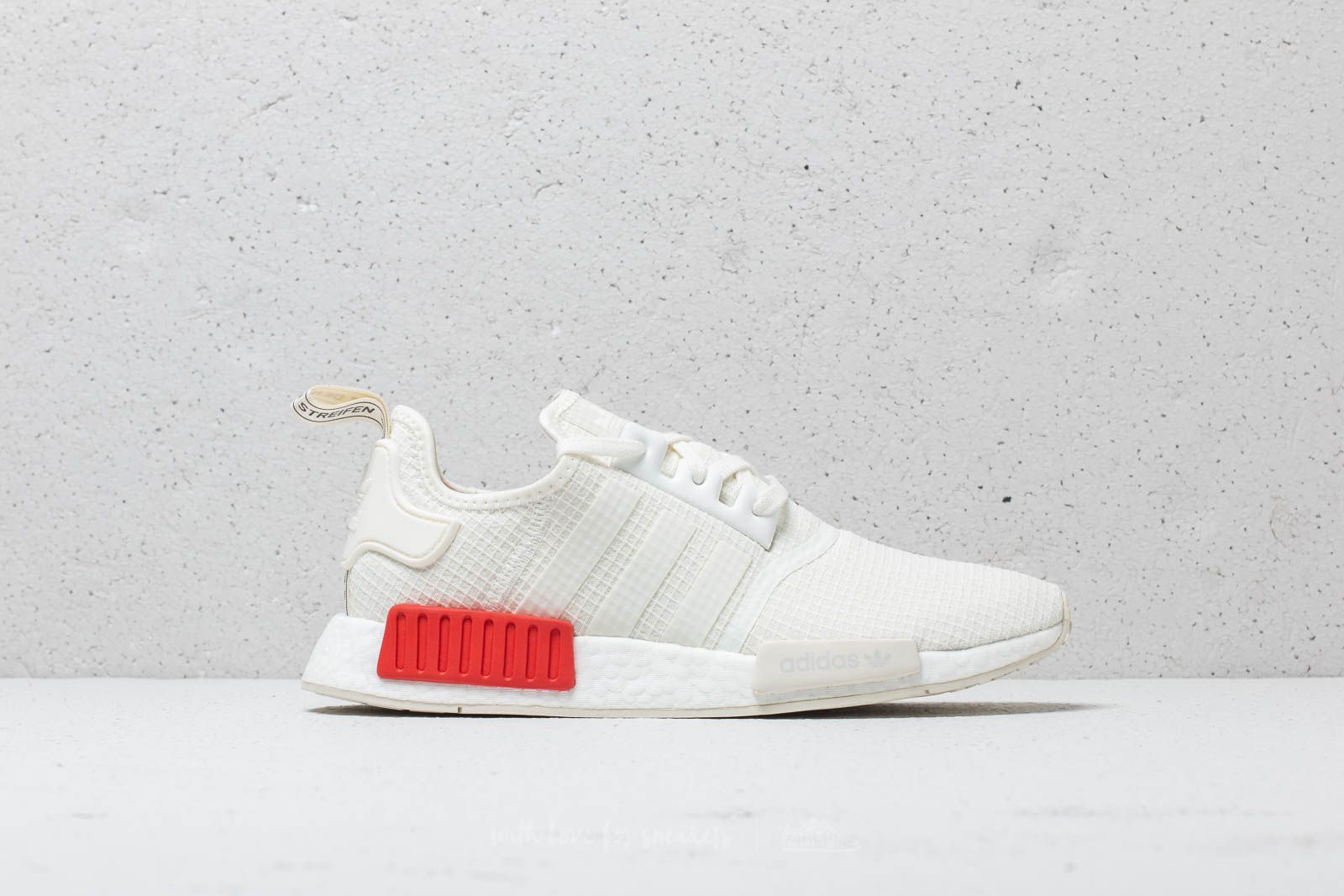 online retailer ed445 ad162 adidas NMD_R1 Off White/ Off White/ Lush Red | Footshop