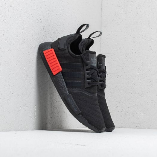 Adidas Originals NMD R1 Primeknit Runner Core Black Lush Red