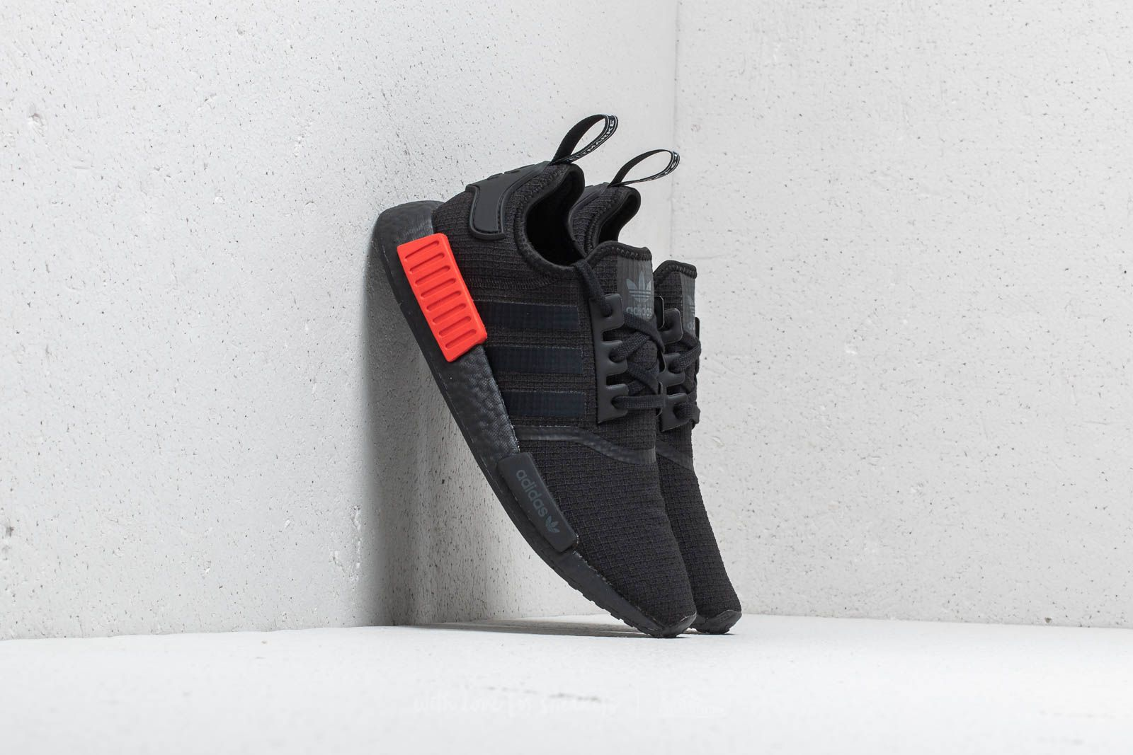 pick up 14c55 3d718 adidas NMDR1. Core Black Core Black Lush Red