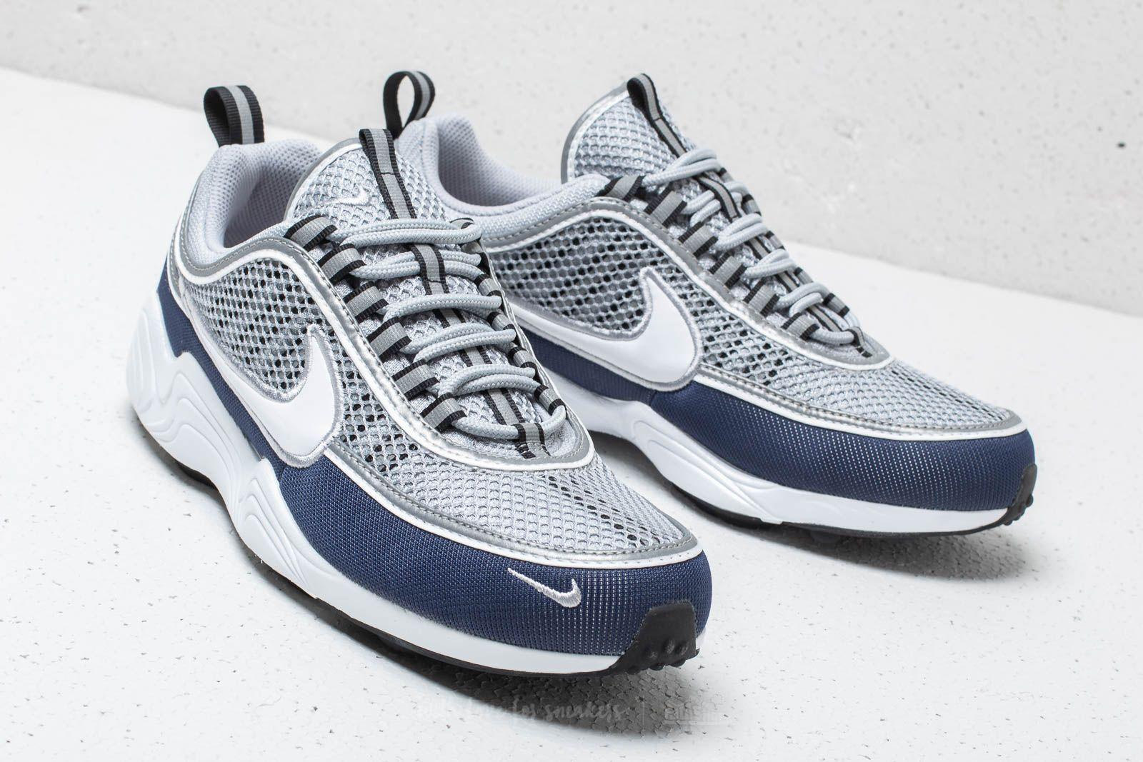 Nike Air Zoom Spiridon '16 Wolf Grey White Midnight Navy