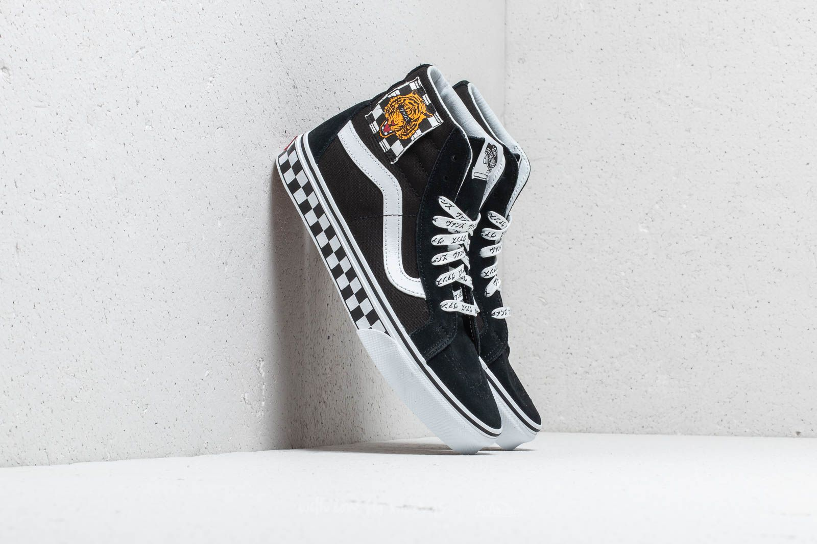 4f3dfd7b47d Vans (Tiger Check) Sk8-Hi Reissue Black  True White at a great