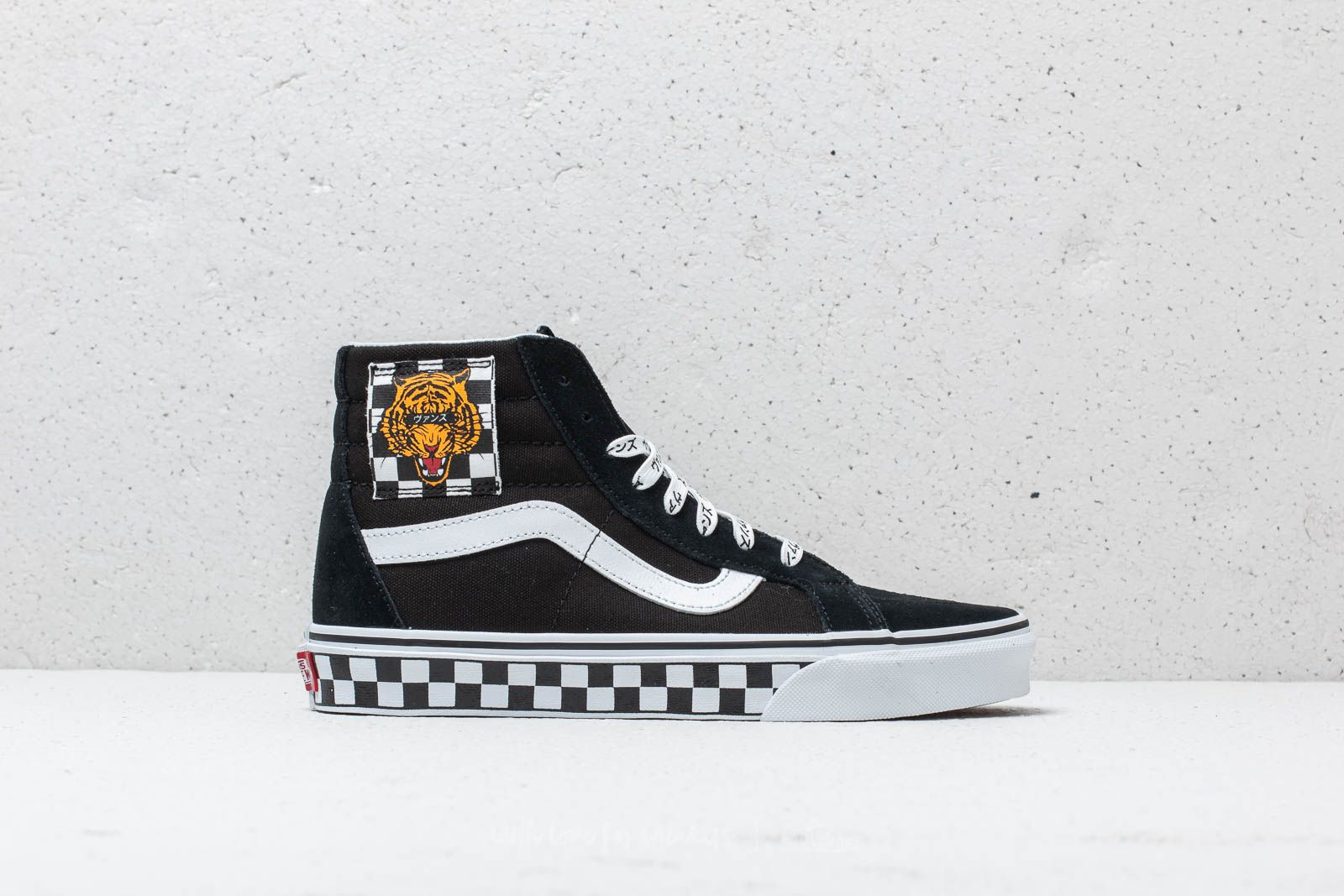 d24dd20e28e02d Vans (Tiger Check) Sk8-Hi Reissue Black  True White at a great
