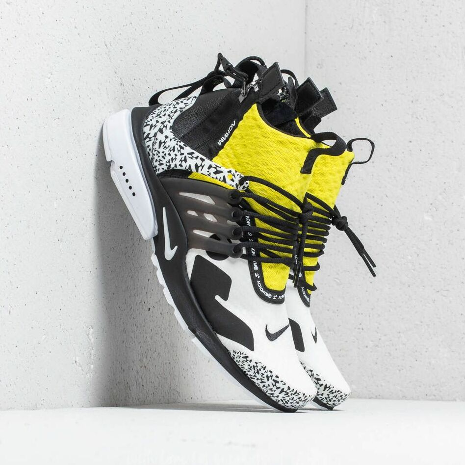 Nike x Acronym Air Presto Mid White/ Black-Dynamic Yellow EUR 40