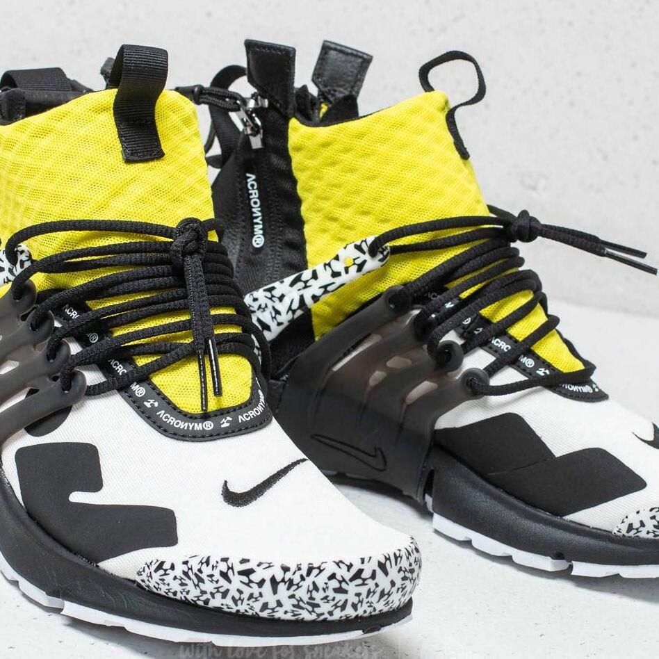 Nike x Acronym Air Presto Mid White/ Black-Dynamic Yellow EUR 41