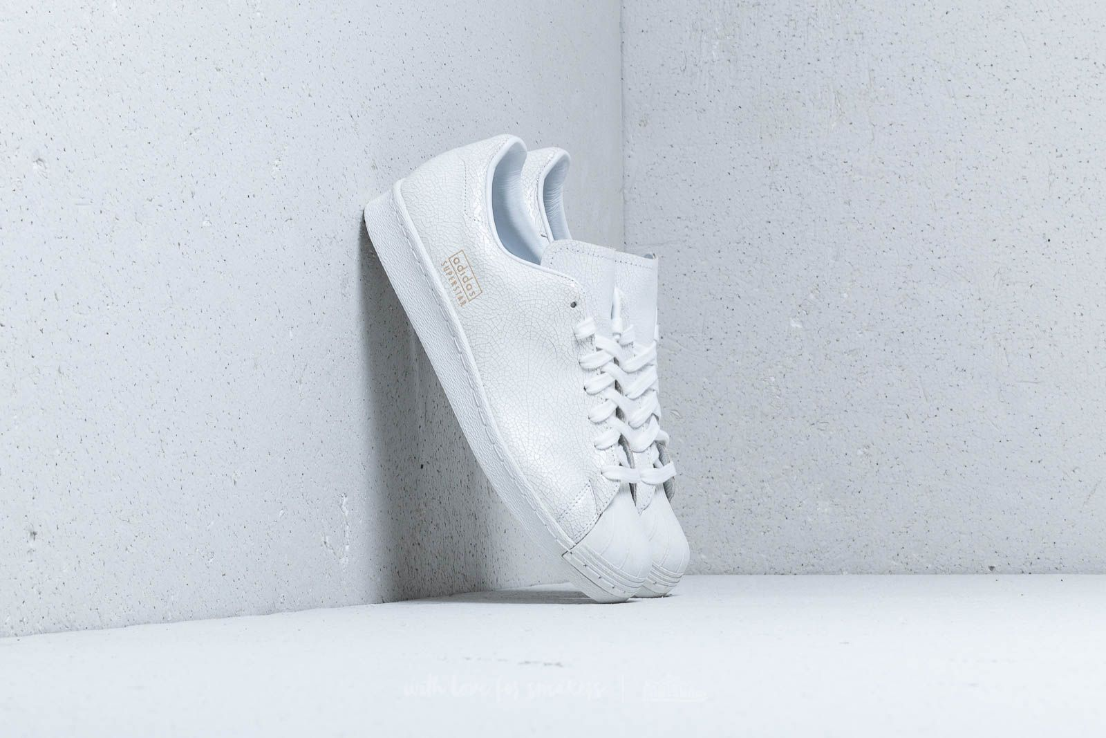 Adidas Superstar 80s Clean Ftw White/ Ftw White/ Gold