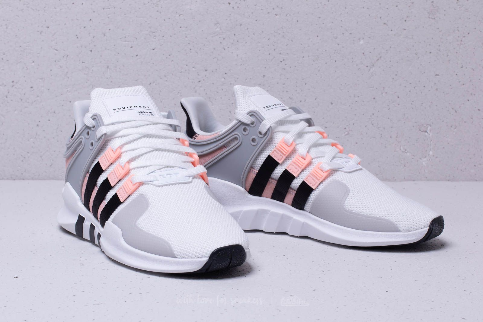 huge selection of fcaf9 4316f canada adidas eqt adv support clear pink b26d0 52724