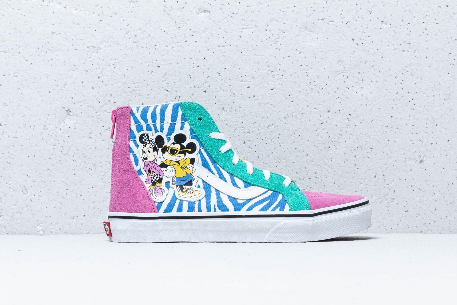 cccb8951e9 Vans x Disney Sk8-Hi Zip 80`s Mickey  True White at a